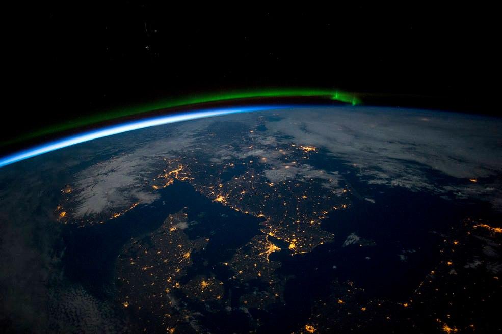 Скандинавия в ночное время