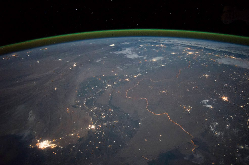 Пакистано-Индийская граница ночью