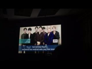 170113 BTS sent a Celebrating Message for Park Bo Gum Fanmeeting In Jakarta