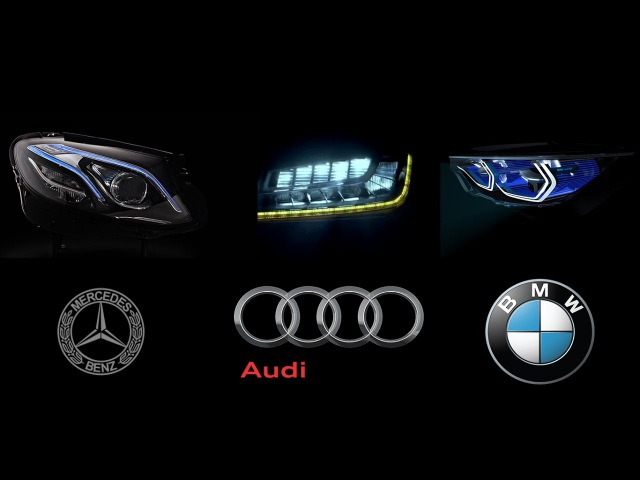 MERCEDES-BENZ MultiBeam LED vs AUDI Matrix LED vs BMW Intelligent Headlight Technology