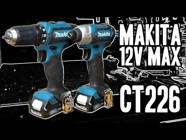 Makita CT226 12V Max CXT Lithium-Ion Cordless Combo Kit (FD05 Drill DT03 Impact Driver)
