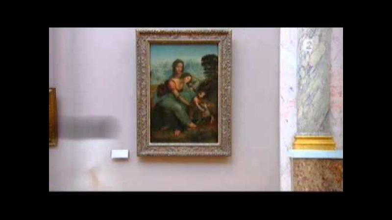 Léonard de Vinci La Vierge à l'enfant Jésus avec Sainte Anne