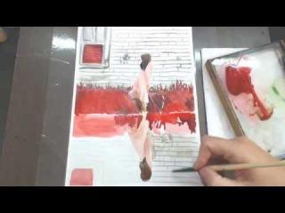 Рисуем фэшн иллюстрацию с Екатериной Голиковой.Draw fashion illustration with Ekaterina Golikova.