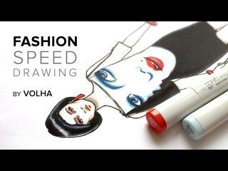 Fashion speed drawing 4 / Рисую фэшн иллюстрацию