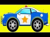 Eğitici Çizgi Film Türkçe - Polis arabası, Yarış arabası ve Kamyon - Akıllı Arabalar