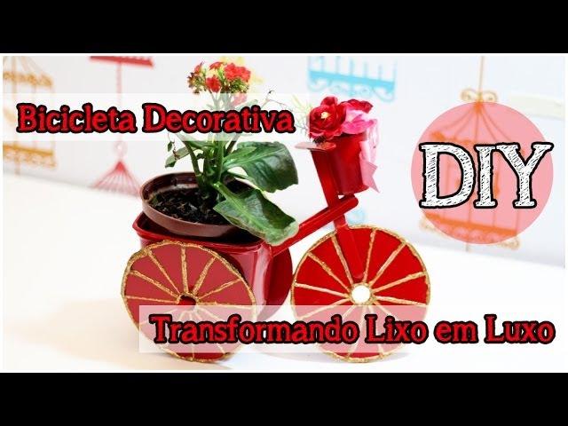 DIY: Bicicleta Decorativa Reciclada | Bicicleta Pote Margarina TLL tododia18