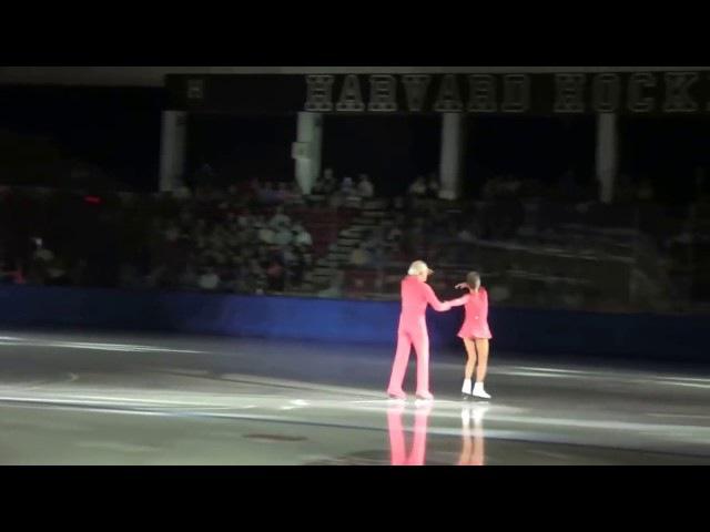 Людмила Белоусова и Олег Протопопов на льду. Ей - 79, ему - 83