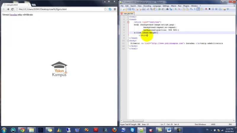 Yakın Kampüs - XHTML (HTML) ve CSS Ders 18 - CSSde Anchor (Çapa) Komutu