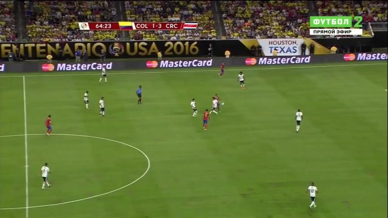 Копа Сентенарио-2016. Группа А. 11.06.16. Колумбия - Коста-Рика. 2 тайм (рус) 720p