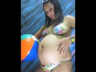 Stuffer31 Aileen - Beach Ball Belly!