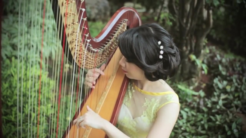 "Secret Garden - Song from a Secret Garden [Harp Cover] by Maria Pratiwi ""The Harpist"""