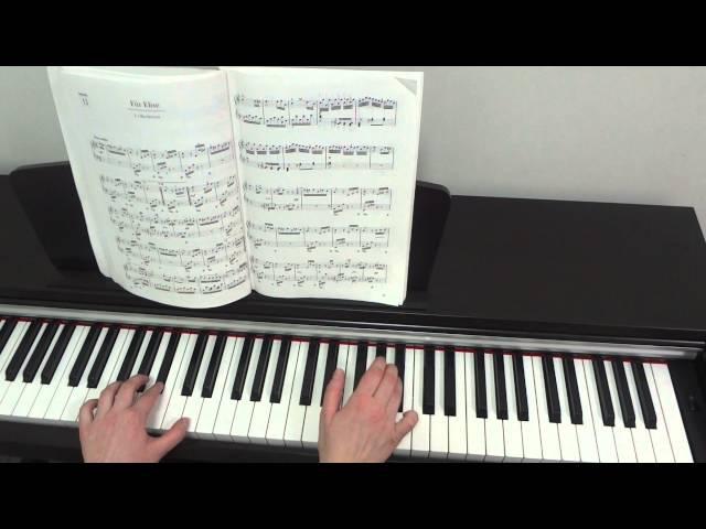 Л Бетховен К Элизе Урок для фортепиано Часть 2