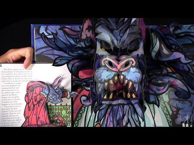Beauty the Beast: A stunning classic pop-up from Robert Sabuda!