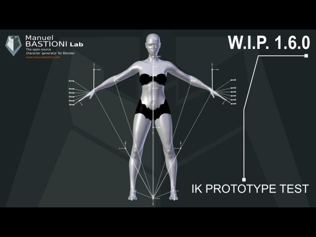 ManuelbastioniLAB 1.6.0 W.I.P. : Inverse Kinematic prototype.