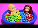 Ариэль и пупсик в ммдемс Disney Princess Ariel Baby Doll Bath Time Learn Colors M Ms Finger Family
