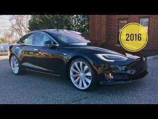 2016 Tesla Model S P100D Self Driving Car World's Quickest Car Ludicrous Speed