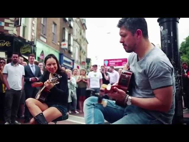 Rodrigo y Gabriela Busking - Grafton St. Dublin - June 2014 The Soundmaker