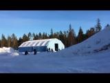 Первое в истории двойное сальто на снегоходе