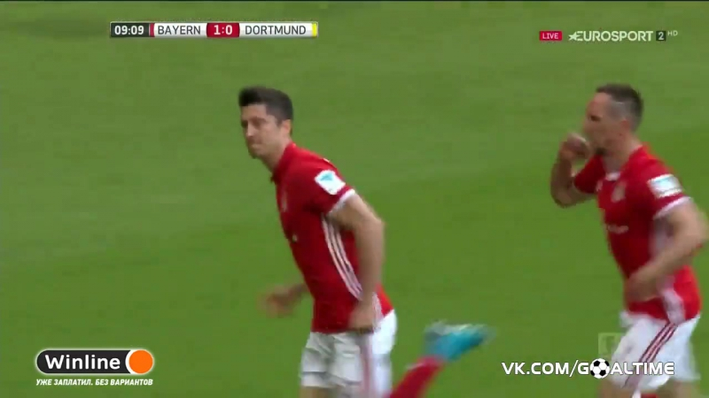 ГолТВ рф Бавария Боруссия Д 2 0 Левандовски