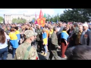 Николаев 9 мая 2017 Чемодан - вокзал - Россия Драка «патриотов» с «афганцами»