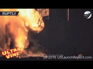 Взрыв ракеты Falcon 9