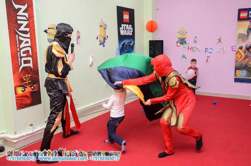Ниндзя на детский праздник