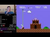 Рекорд по прохождению игры Super Mario Bros (4:57)
