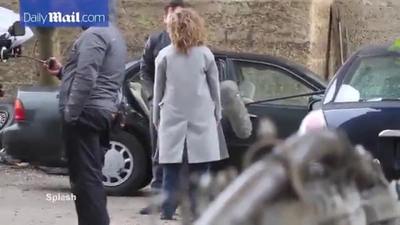 Дженнифер на съёмках третьего сезона сериала «Оттенки синего», Бруклин, США | 24.04.17