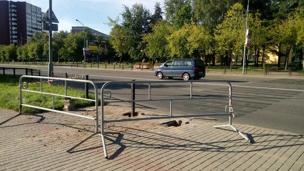 Фотофакт. В Новополоцке убрали одну «зебру», фото-1