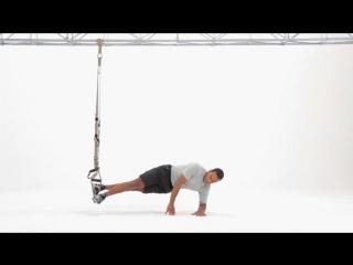 Trx side plank (single leg with knee tuck) level 3