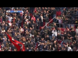Supporters and players reaction in the Amsterdam ArenA to Excelsiors 3 goals against Feyenoord