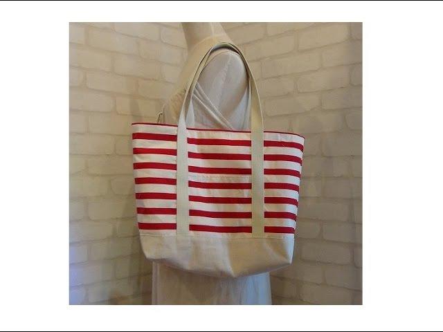 DIY大きなトートバッグの作り方 How to make a big tote bag