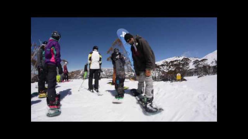 6 Year old Fynn Snowboarding 2016