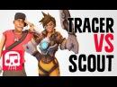 TRACER VS SCOUT Rap Battle by JT Music