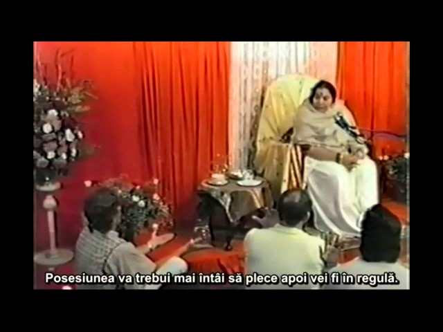 19850317 Workshop Melbourne Shri Mataji working on seekers with effects from false seeking and teac