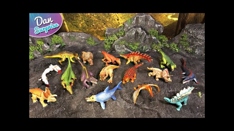 16 MINI DINOSAURS TOYS from SCHEICH 2D PUZZLES Spinosaurus Tyrannosaurus Triceratops Mosasaurus