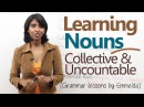 Learning Nouns ( Collective Uncountable Nouns) - Basic English Grammar Lessons