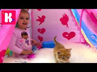 Новое видео Мисс Кэти - Доктор Плюшева набор ветеринара играем с кошечкой Муркой в доктора Doc McStuffins set