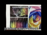 FW 75GSM fast dry sublimation paper test on printer epson