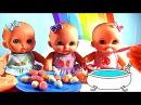 Как мама кормит пупсов Играет в Дочки-Матери с куклой Пупсик кушает Какает на горшок Игрушки дети 0