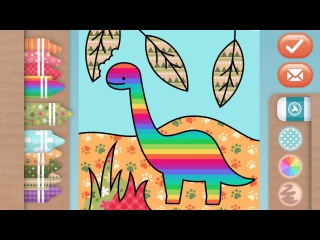 Toonia Colorbook | Dinosaurs Coloring Educational Game for Kids & Toddlers by 3fs