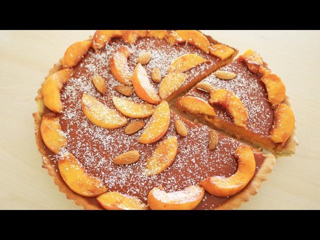 Tarta de DURAZNO saludable | Sin azúcar | Sin glúten | Vegana | CocinaMalova