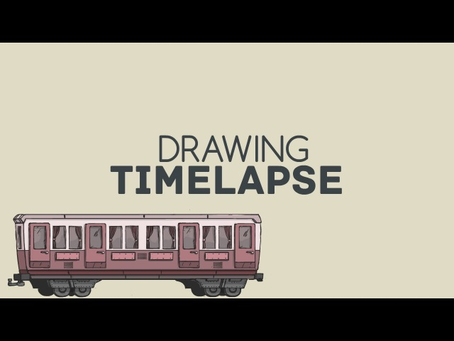 Design concept art from Idea to color in Flash. Carriage. Timelapse x16. Freelance.