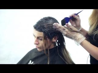 Темное омбре от Ирэн Клочковой. Полную версию мастер-класса смотрите на парикмахер тв Беларусь на ютубе.