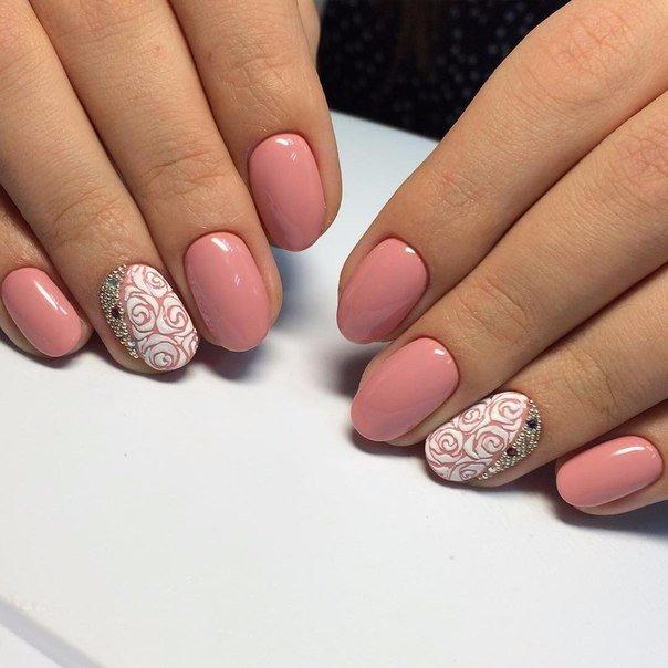 маникюр 2016 на короткие ногти гель-лак фото