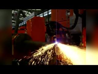 Плазменная резка стальной трубы, 3D станок с ЧПУ