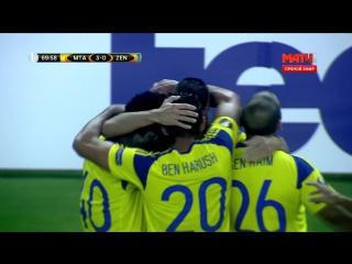 Футбол. Лига Европы. Группа D. 1-й тур. Маккаби - Зенит 3:0 70' Харис Медунянин (ДУБЛЬ)
