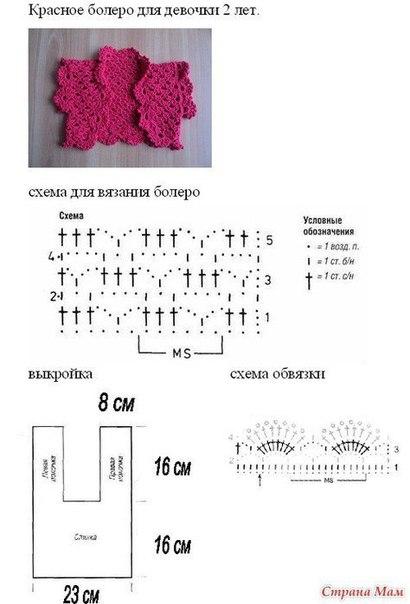 Схема и вязание для девочки