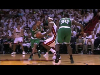Lebron James Power Dunk vs Celtics Game 7 ECF 2012