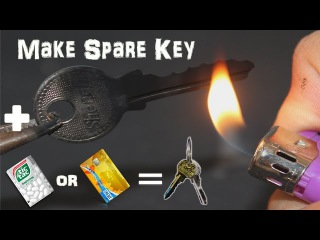 Make Emergency Homemade Spare Key With TicTac Bottle Or Credit Card In 2 minutes